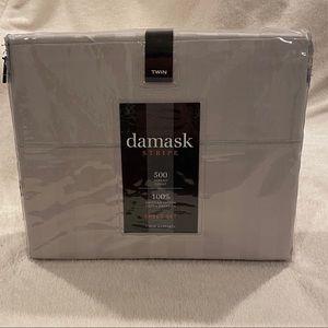 Damask Stripe Twin Sheet Set
